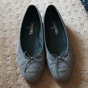 Chanel ballet flats size 40 lightly worn